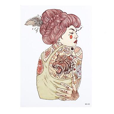 8pcs Körperkunst Abziehbild Tattoo für Frauen Männer Engel Flügel Schönheit Mädchen Blume Arm-Design temporäre wasserdichte