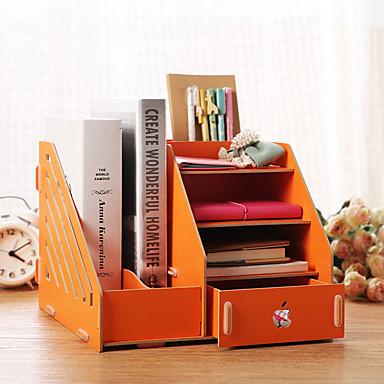 Büromaterial(Rot / Rosa / Weiß / Grün / Blau / Gelb) -Nicht-personalisierte-Klassisches Thema 25.5*26*20cm Holz