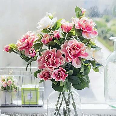 1 Gren Silke Gardenia Bordblomst Kunstige blomster