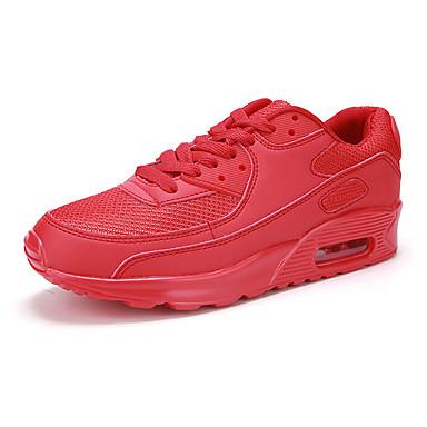 Kényelmes-Lapos-Női cipő-Balerinek-Sportos-Tüll-Fekete / Zöld / Piros