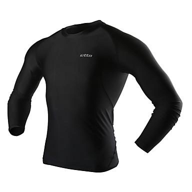Herre T-skjorte til jogging Komprimering Kompressjonsklær Bunner til Trening & Fitness Løp Tett M L XL