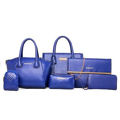 Damen Taschen PU für Blau Schwarz Fuchsia Wein Braun