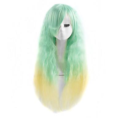 divat természetes hullámok kiváló minőségű kevert színű szintetikus haj