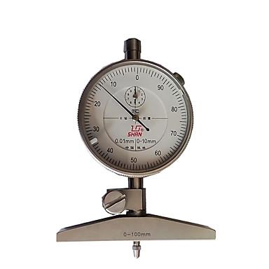 0-100mm discagem ferramenta mecânica de medição de nível instrumento de profundidade