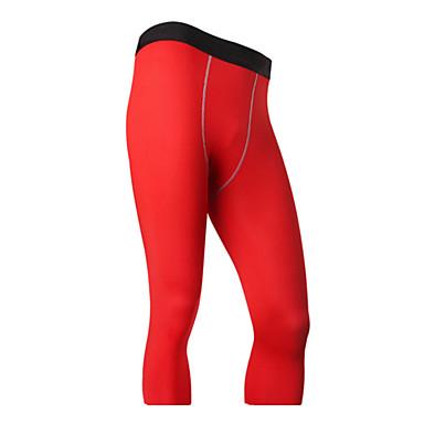 בגדי ריקוד גברים מכנסי ריצה ייבוש מהיר נושם 3/4 טייץ חותלות תחתיות כושר גופני ריצה שחור אפור אדום ירוק כחול S M L XL XXL