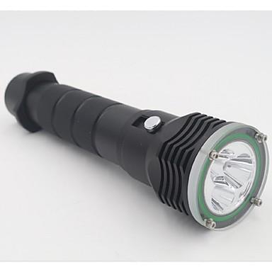 תאורה פנס LED LED 4800 Lumens 2 מצב 18650 18367 26650 עמיד למים מחנאות/צעידות/טיולי מערות שימוש יומיומי צלילה/ שייט ספורט מיםסגסוגת