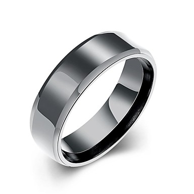 בגדי ריקוד גברים טבעת הטבעת, טבעת הצהרה, טבעת - מצופה כסף צִיצִית, בוהמי, פאנק 7 / 8 / 9 לבן שחור עבור חתונה / Party / יומי
