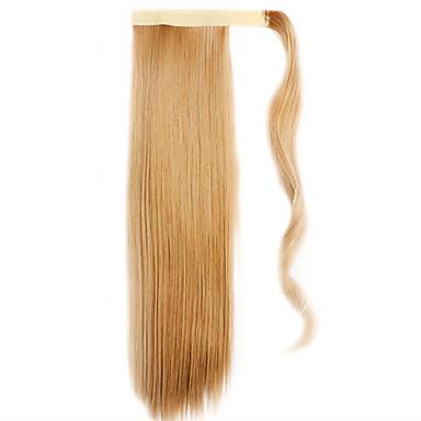 gylden brun 60cm syntetisk høy temperatur wire parykk rett hår hestehale farge 26
