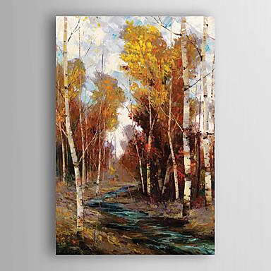 kézzel festett olajfestmény tájkép fás patak feszített keret 7 fal arts®