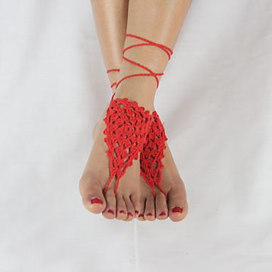 Femme Bracelet de cheville / Bracelet Tissu Original Mode Adorable Ajustable Style Simple Bracelet de cheville Autres Bijoux Pour Mariage
