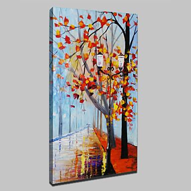 große Handmalerei abstrakte Landschaftsölgemälde auf Leinwand für Wohnzimmerwandkunstbild fertig zum Aufhängen