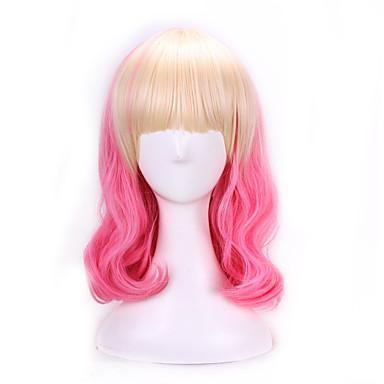 Συνθετικά μαλλιά Περούκες Φυσικό Κυματιστό Μαλλιά με ανταύγειες Χωρίς κάλυμμα Lolita Wig Ροζ