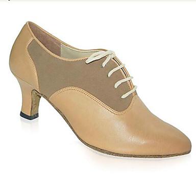 Női Modern Swing-cipők Szintetikus Magassarkúk Professzionális Beltéri Vaskosabb sarok Bézs Személyre szabható