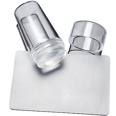 2 pcs Uñas herramientas de bricolaje Estampado de placa Modelo Diseños de Moda arte de uñas Manicura pedicura Elegante / Redondo / Cuadrado / Placa de estampado