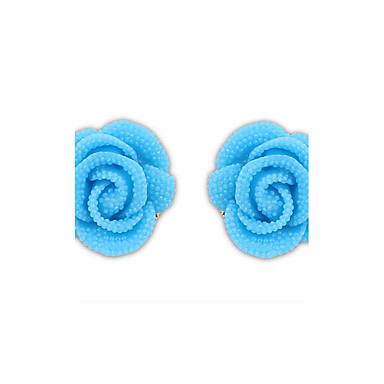 עגילים צמודים לנשים פלסטיק / סגסוגת עגיל לא אבן