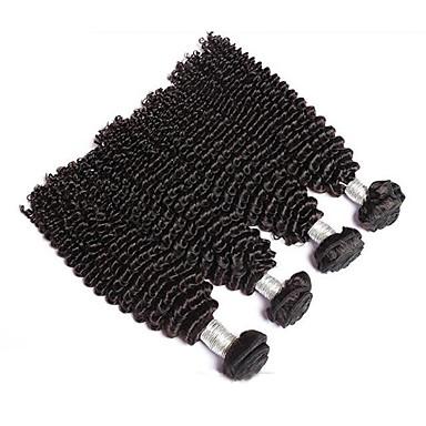 Człowieka splotów włosów Włosy brazylijskie perwersyjne 4 elementy sploty włosów