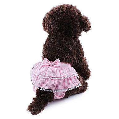 Γάτα Σκύλος Παντελόνια Ρούχα για σκύλους Στολές Ηρώων Γάμος Πουά Φιόγκος Κίτρινο Μπλε Ροζ Στολές Για κατοικίδια