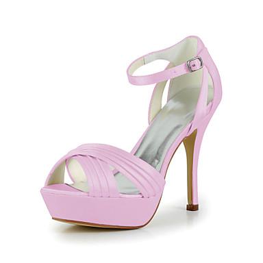 chaussures mariage couleurs Mariée 00692712 Boucle spéciales de occasions talon plus plis des aiguille sandales avec en satin et pour PqzPwBF