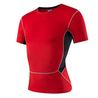 Laufen T-shirt Herrn Kurze Ärmel Rasche Trocknung / Schweißableitend Polyester Rennsport / Laufen Sport Sportbekleidung Schlank