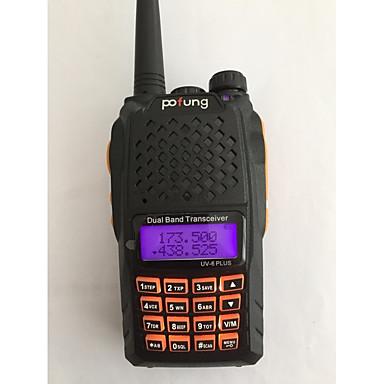 BAOFENG UV-6 PLUS Funkgerät Tragbar digital Sprachansage Dual - Band Dual - Anzeige Dual - Standby CTCSS/CDCSS LCD FM-Radio 1.5 km -3 km