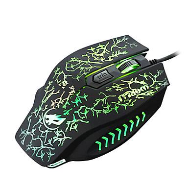 Krieg Wolf 4d verdrahteten Gaming-Maus 2400dpi mit Hintergrundbeleuchtung Atmung Licht für lol / cf / DOTA