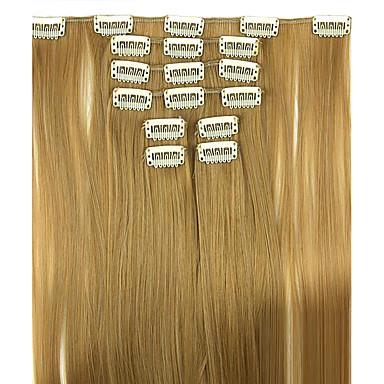 paróka arany barna 62cm magas hőmérsékletű vezeték hossza egyenes haj szintetikus póthaj