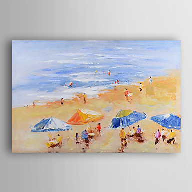 mão pintura a óleo pintado praia paisagem de verão, com quadro esticado arts® 7 parede