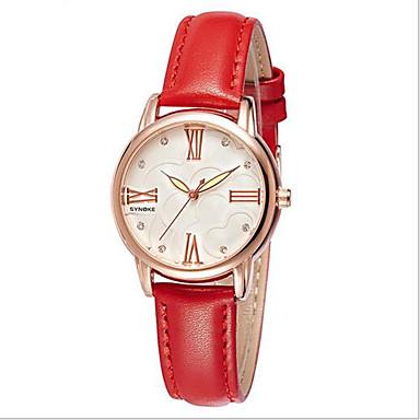 SYNOKE Damen Modeuhr Quartz Japanischer Quartz Wasserdicht Armbanduhren für den Alltag Leder Band Schwarz Rot