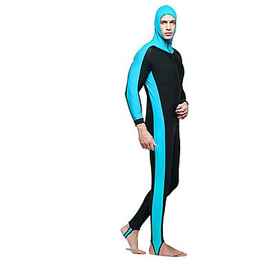 Muškarci Ronilačko odijelo kože Vodootporno Ultraviolet Resistant Kompletna maska Puhaság Chinlon Dugih rukava Protiv osipa Plivanje