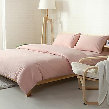 Bettbezug-Sets Solide Baumwolle Garngefärbt 4 Stück