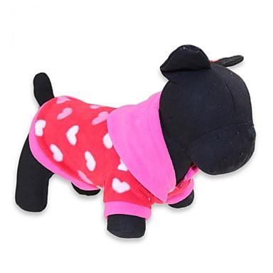 Gato Cachorro Camiseta Camisola com Capuz Roupas para Cães Fashion Floral / Botânico Cinzento Rosa Ocasiões Especiais Para animais de