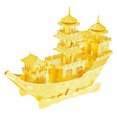 3D - Puzzle Holzpuzzle Metallpuzzle Modellbausätze Schiff Chinesisches altes Schiff Heimwerken Edelstahl Chinesischer Stil Geschenk