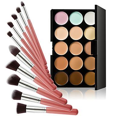 15 Concealer/Contour Make-up Pinsel Trocken Gesicht Weiß machen Farbiger Lipgloss Abdeckung Öl Kontrolle Concealer Unebener Hautton