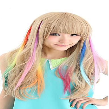 voordelige Synthetische extensions-Synthetische kleurrijke clip in hair extensions 1 clips 9color