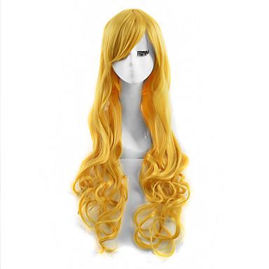 Synthetische Haare Perücken Wellen Kappenlos Lang
