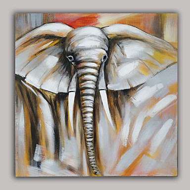 Pintados à mão Animal Pinturas a óleo,Moderno 1 Painel Tela Pintura a Óleo For Decoração para casa