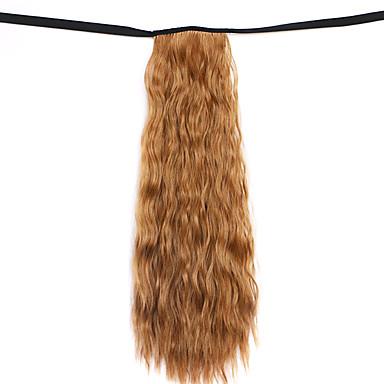 jaune dentelle vague profonde perruque maïs chaud ponytails 6a