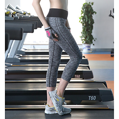 Damen Laufhosen Rasche Trocknung Atmungsaktiv 3/4 Strumpfhosen/Corsaire für Yoga Übung & Fitness Laufen M L