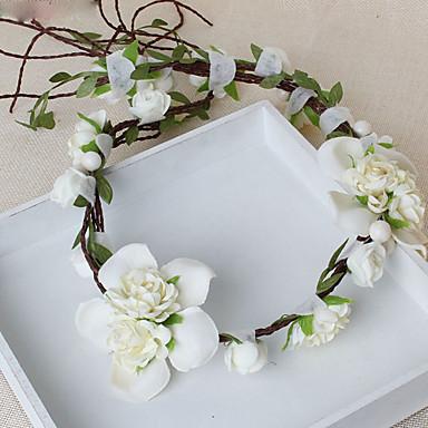 Damen Blumenmädchen Stoff Kopfschmuck-Hochzeit Besondere Anlässe Freizeit Kränze 1 Stück