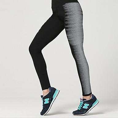Mulheres Camiseta Segunda Pele / Leggings de Corrida / Leggings de Ginástica Esportes Elastano Calças Roupas Esportivas Secagem Rápida,
