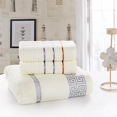 Estilo fresco Conjunto de Toalhas de Banho,Sólido Qualidade superior 100% Algodão Tricô Toalha