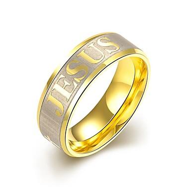 Herrn Monogramme Bandring / Statement-Ring / Ring - Gold Personalisiert, Quaste, Böhmische 7 / 8 / 9 Gold Für Hochzeit / Party / Alltag