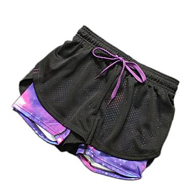 calças de yoga Shorts Respirável Secagem Rápida Natural Com Elástico Moda Esportiva MulheresIoga Exercício e Atividade Física Esportes