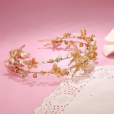 Femme Jeune bouquetière Alliage Imitation de perle Casque-Mariage Occasion spéciale Serre-tête 1 Pièce