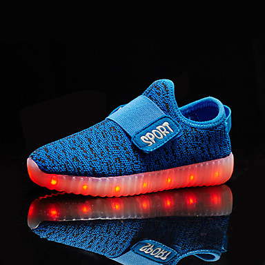 Mädchen Schuhe maßgeschneiderte Werkstoffe Frühling Sommer Herbst Leuchtende LED-Schuhe Komfort Sneakers LED Klett für Normal Draussen