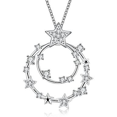 Modische Halsketten Halsketten / Anhängerketten / Statement Ketten Schmuck Hochzeit / Party / Alltag / Normal / Sport Sterling SilberWeiß