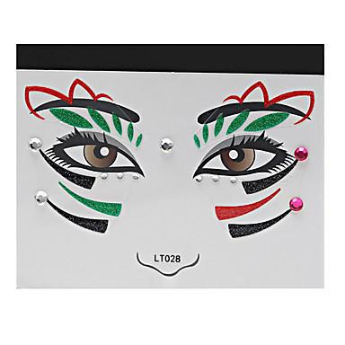 -Airbrush Tattoo Stencils-14*14*0.3-Papír-Piros-Női Felnőtt