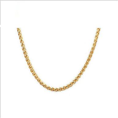 בגדי ריקוד נשים פלדת על חלד ציפוי זהב 18K זהב שרשרת - פלדת על חלד ציפוי זהב 18K זהב יום יומי אופנתי ארופאי שרשראות עבור יומי קזו'אל