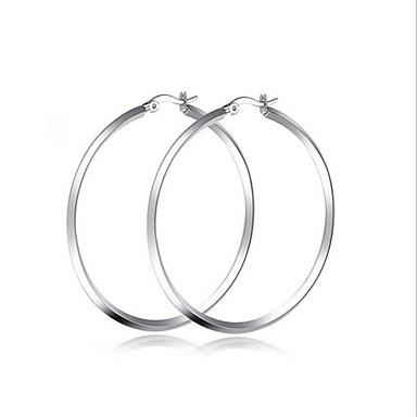 Damen Kreolen Modisch Simple Style Edelstahl Kreisform Ovale Form Schmuck Für Party Alltag Normal