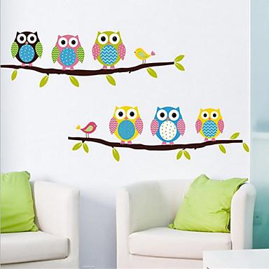 Dekorative Mur Klistermærker - Animal Wall Stickers Dyr / Still Life / Mote Stue / Soverom / Spisestue / Kan fjernes